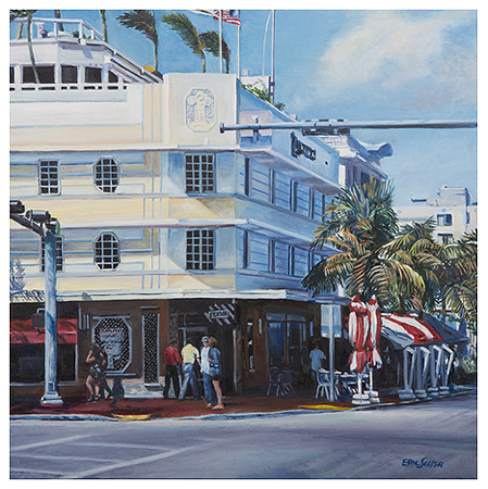 Bentley Hotel, Original oil painting by the fine artist Eric Soller