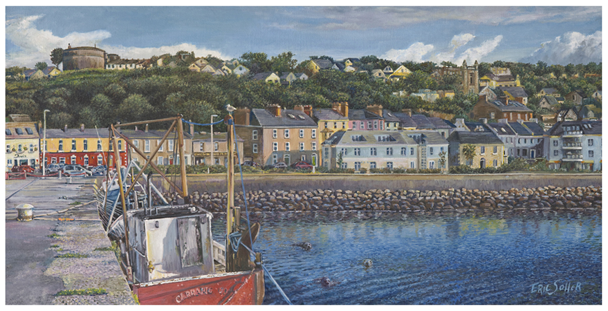 Howth Harbour, Original oil painting by the fine artist Eric Soller